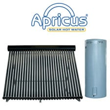 apricus glass lines solar water heater
