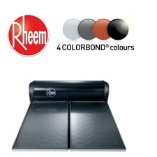 rheem solar water heater colorbond range