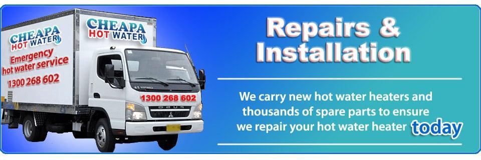 emergency hot water repairs