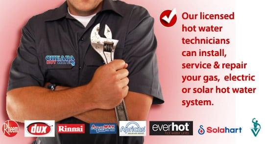 hot water installer sydney