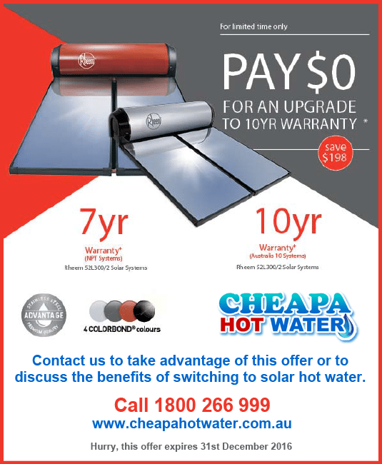 rheem solar water heater discount