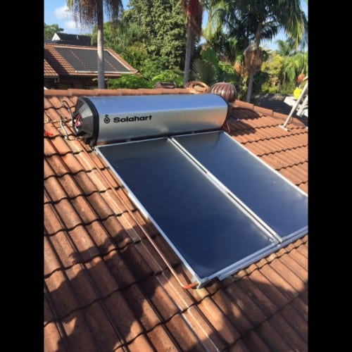 repair solar hot water system