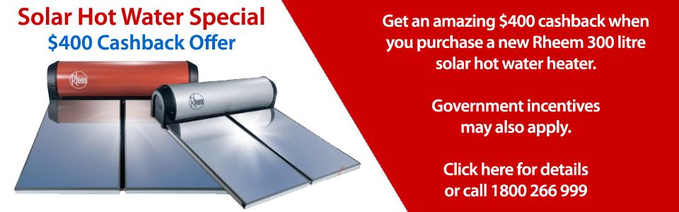 solar hot water installation discount