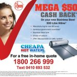 cash back offer rheem solar hot water