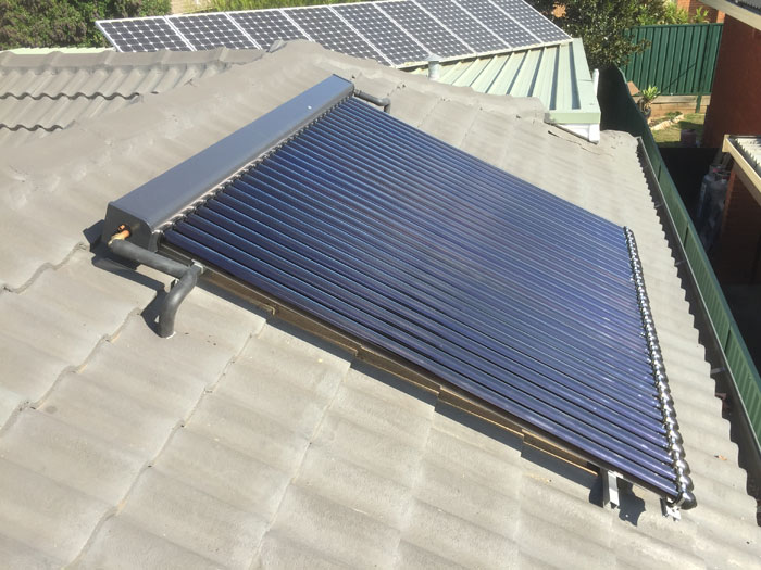 repair hail damaged solar hot water tubes